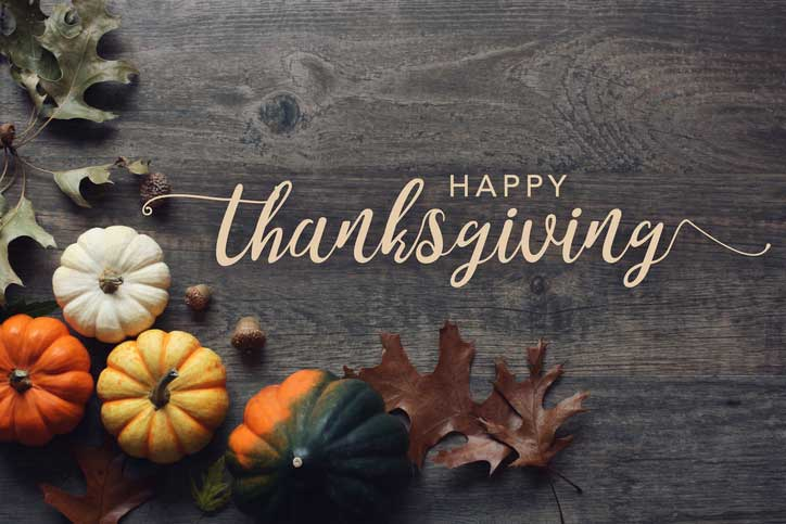 Happy Thanksgiving from Coastal Home and Villa!