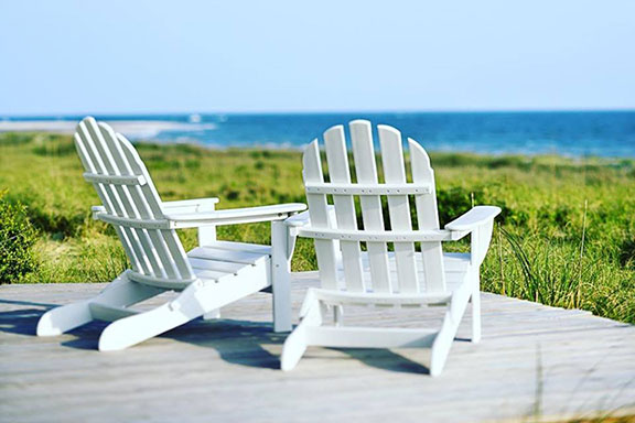 Chairs on Hilton Head Island Beach of South Carolina