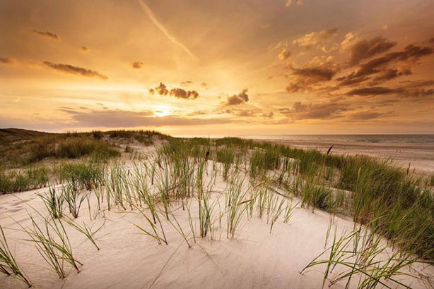 Sunset on Hilton Head Island beach of South Carolina