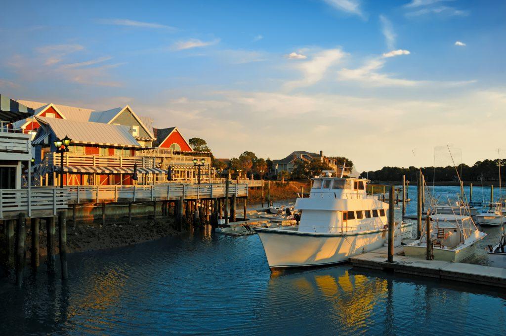 marina, water, boats, fishing boats, south beach marina, hilton head island